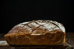 Bochenek chleba wciąż życie, kopii przestrzeń Obraz Royalty Free