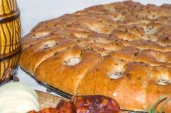Bochenek czosnku chleb Zdjęcia Royalty Free