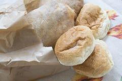 Bochenek i chlebowe rolki Obrazy Stock
