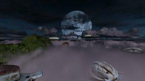 Bochenki chleb rozmaitość nad chmury przy nocą zbiory