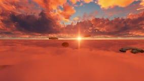 Bochenki chleb rozmaitość nad chmury przy zmierzchem zbiory wideo