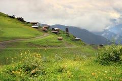 Bochorna村庄 Tusheti地区(乔治亚) 免版税图库摄影