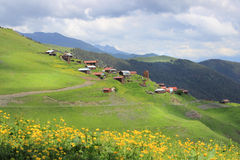 Bochorna village. Tusheti region (Georgia) Royalty Free Stock Photos