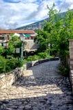 Bochtige Brug, Mostar, Bosnië-Herzegovina stock fotografie