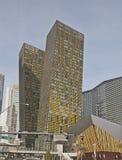 Bochtige gebouwen, Las Vegas Stock Fotografie