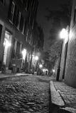 Bochtige straten van Boston stock fotografie