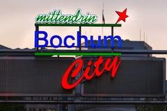 Bochum city sign in germany stock photos