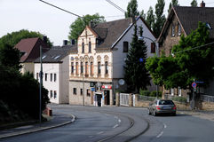 Bochum gata - tysk stad Arkivfoton