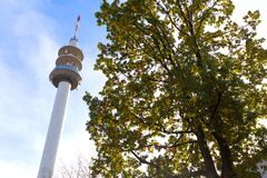 Bochum germany in autumn. Bochum germany tv tower in autumn royalty free stock photo