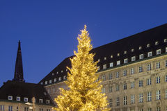 Bochum Rathaus during Christmas Stock Image