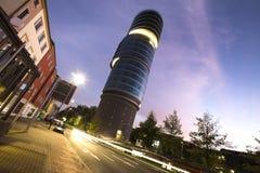 Bochum Tyskland i aftonen Arkivfoton