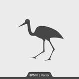 Bocianowa ikona dla sieci i wiszącej ozdoby Obraz Royalty Free