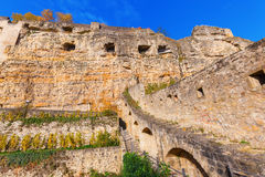 Bock Cliff in Luxembourg City Stock Image
