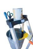 Bockleiterelement mit Werkzeugen Stockbild