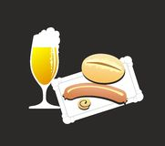 Bockwurst Royalty Free Stock Photography