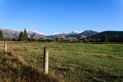 BOCZNA droga W POŁUDNIOWEJ wyspie NEWZEALAND Obraz Royalty Free