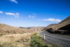 BOCZNA droga W POŁUDNIOWEJ wyspie NEWZEALAND Obrazy Royalty Free