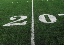 20 boczna linia boiska na futbolu amerykańskiego polu, kopii przestrzeń zdjęcie royalty free