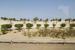 Boczna sposób pustynia Abu Dhabi droga, UAE Obrazy Stock