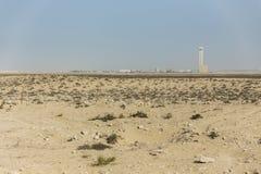 Boczna sposób pustynia Abu Dhabi droga, UAE Zdjęcie Royalty Free