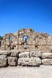 Boczne Antycznej świątyni ruiny Fotografia Stock
