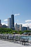 boczne ulice chicago lata widok zdjęcie royalty free