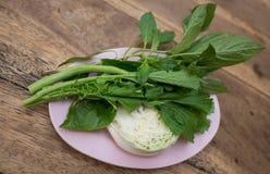 Bocznego naczynia warzyw TAJLANDZKI styl zdjęcie royalty free