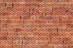 Bocznego widoku construcion cegły czerwona tekstura fotografia stock