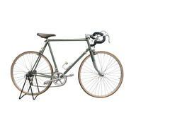 Bocznego widoku Di cięcia zieleni Stary bicykl na białym tle, transport zdjęcia stock