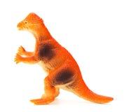 Bocznego widoku pomarańczowy pachycephalosaurus na białym tle Obrazy Royalty Free