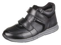 Boczny górny widok czerń i popielaty rzemienny męski but Obrazy Stock