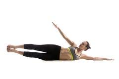 Boczny nogi dźwignięcia ćwiczenie Obraz Stock