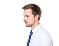 Boczny profil biznesmen Obrazy Stock