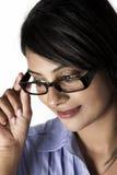 Boczny profilowy piękny model ramy szkło Zdjęcie Royalty Free
