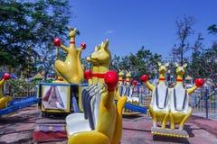 Boczny przedstawienie kangura funfair przejażdżka, Chennai, India Jan 29 2017 zdjęcie royalty free
