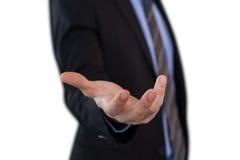 Boczny widok biznesmena gestykulować Obrazy Stock