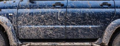 Boczny widok brudny samochód Zdjęcia Stock