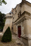 Boczny widok Dampierre-sur-Boutonne kasztel Fotografia Royalty Free