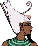 Boczny widok Egipski bóg Atum ilustracja wektor