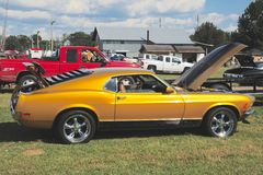 Boczny widok 1968 Ford mustanga wzorcowy mach Ja Fotografia Royalty Free