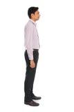 Boczny widok formalny indyjski biznesowy mężczyzna Zdjęcia Stock