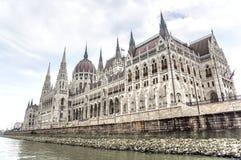Boczny widok hungarian parlament Zdjęcia Royalty Free