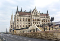 Boczny widok hungarian parlament Obrazy Royalty Free
