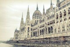 Boczny widok hungarian parlament Obraz Royalty Free