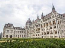 Boczny widok hungarian parlament Zdjęcie Stock