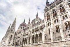 Boczny widok hungarian parlament Fotografia Stock