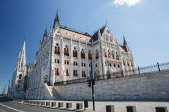 Boczny widok hungarian parlament w Budapest, Europa Obraz Royalty Free