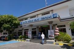 Boczny widok Imigracyjny biuro Denpasar w Bali, Indonezja obrazy royalty free