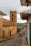 Boczny widok katedra w Barichara, Kolumbia fotografia royalty free