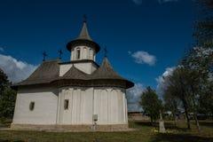 Boczny widok kościół Święty krzyż w Patrauti Fotografia Stock